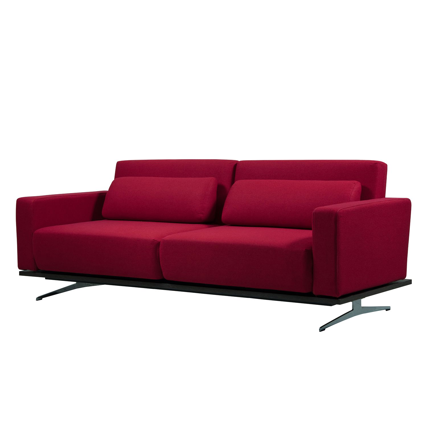 Schlafsofa Copperfield I - Webstoff - Stoff Bora Rot