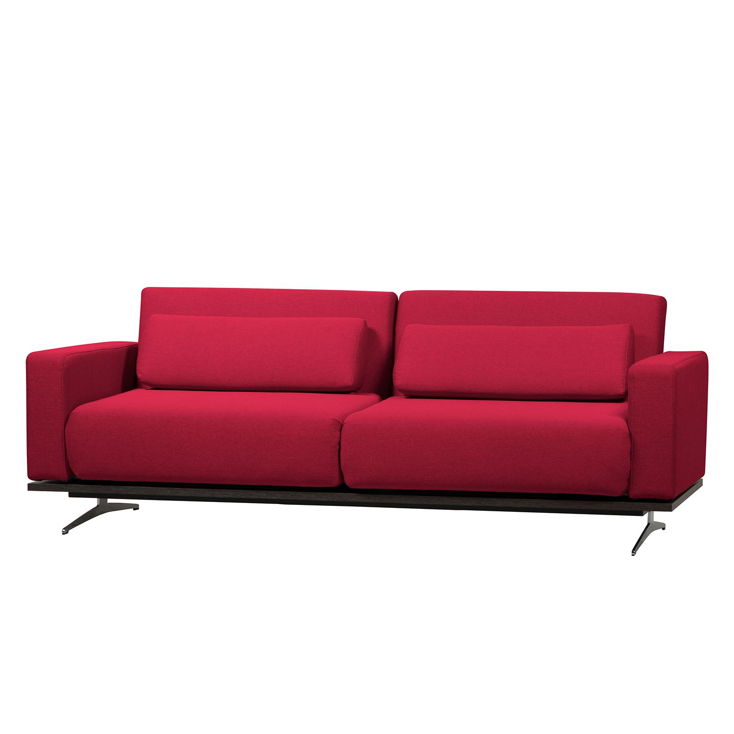 Schlafsofa Copperfield I - Webstoff - Stoff Zahira Rot