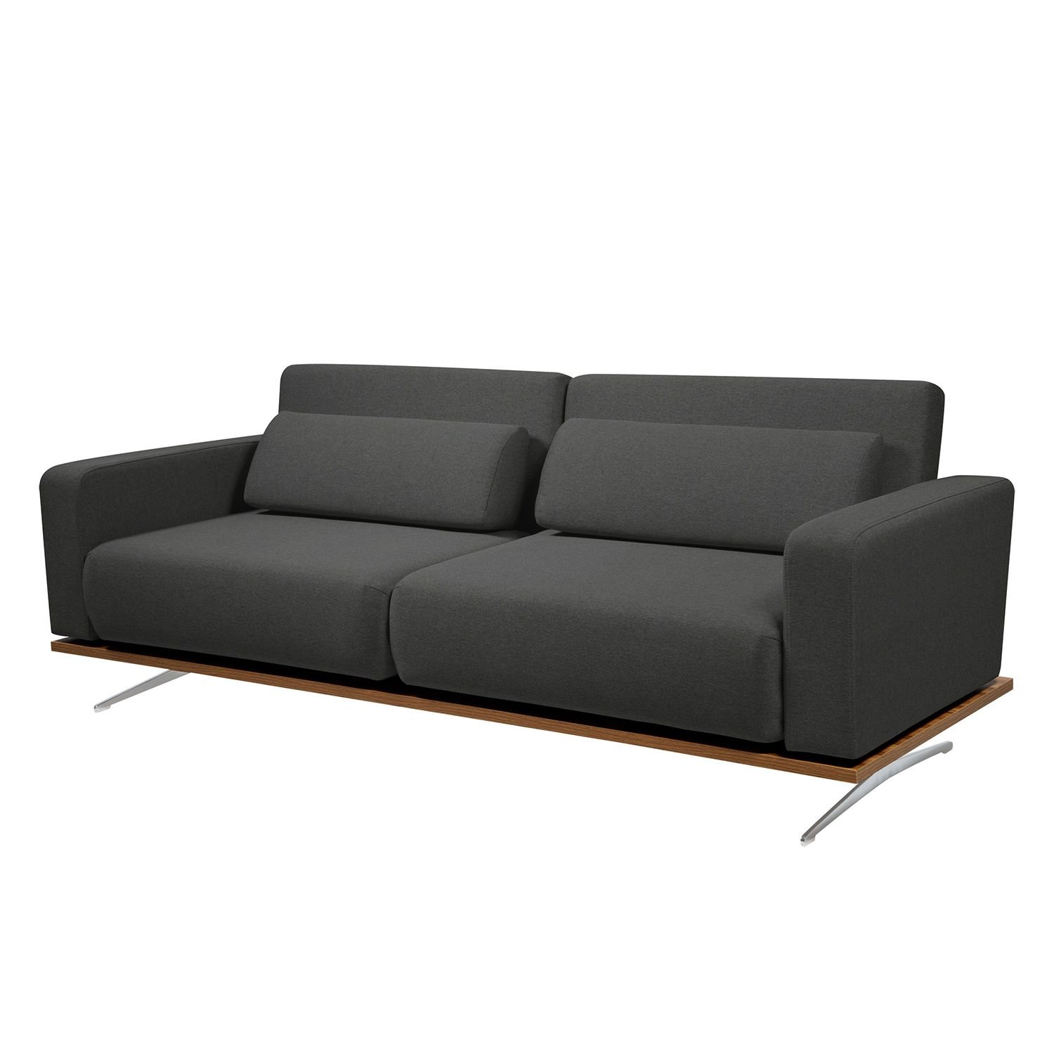 Schlafsofa Copperfield II - Webstoff - Stoff Zahira Anthrazit