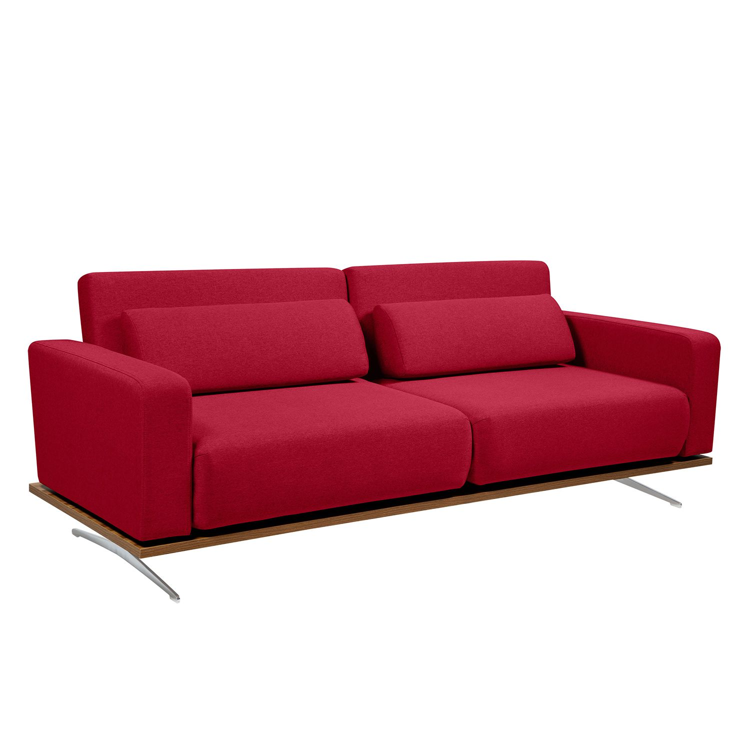 Schlafsofa Copperfield II - Webstoff - Stoff Zahira Rot