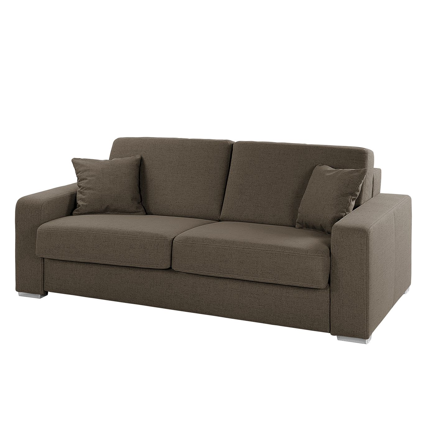 Canapé convertible Coro - Tissu - Marron, Home Design