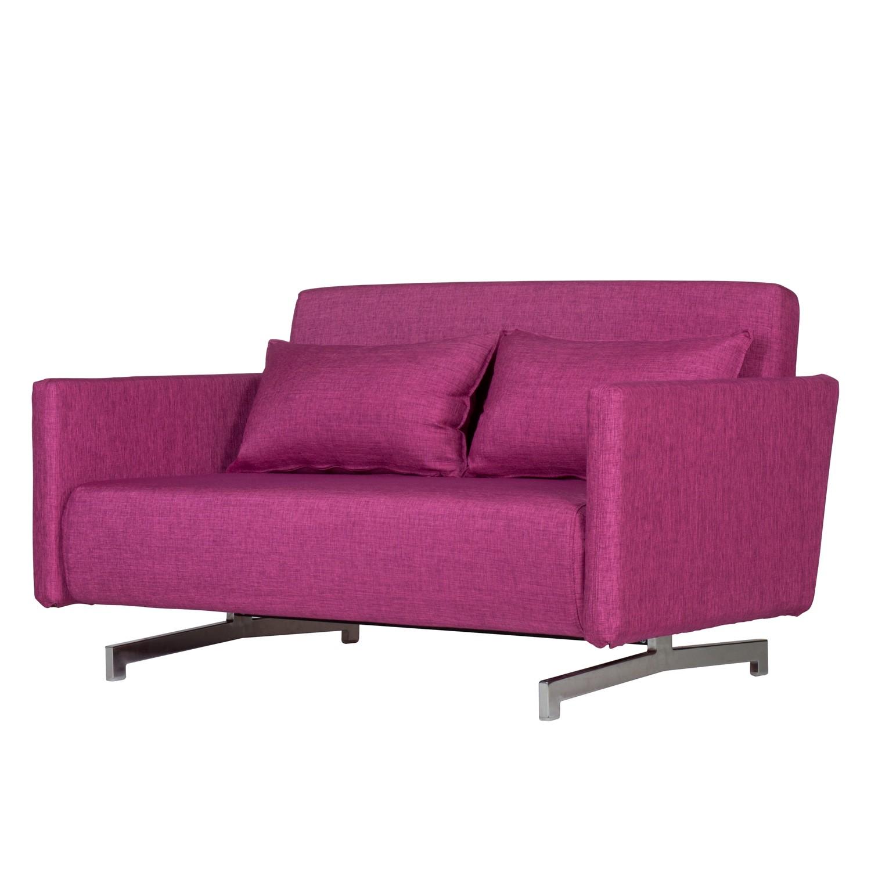 Schlafsofa Dendera B Webstoff - Stoff Olessa Pink