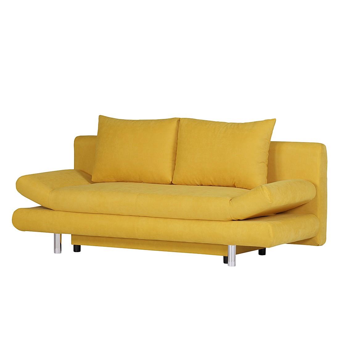 Canapé convertible Dina - Tissu jaune, Fredriks