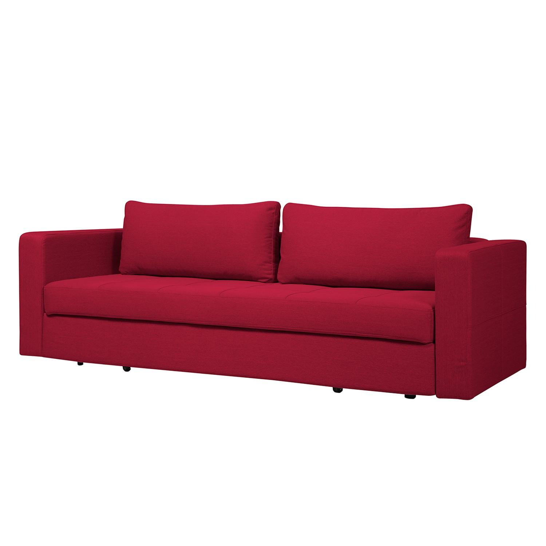 Schlafsofa Eperny - Webstoff - Stoff Zahira Rot