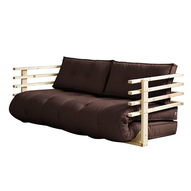 Canapé convertible Funk - Futon marron / Naturel, Karup
