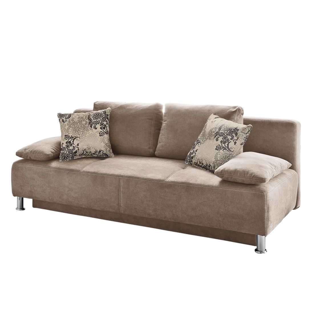 Canapé convertible Guam - Microfibre - Marron clair, Home Design