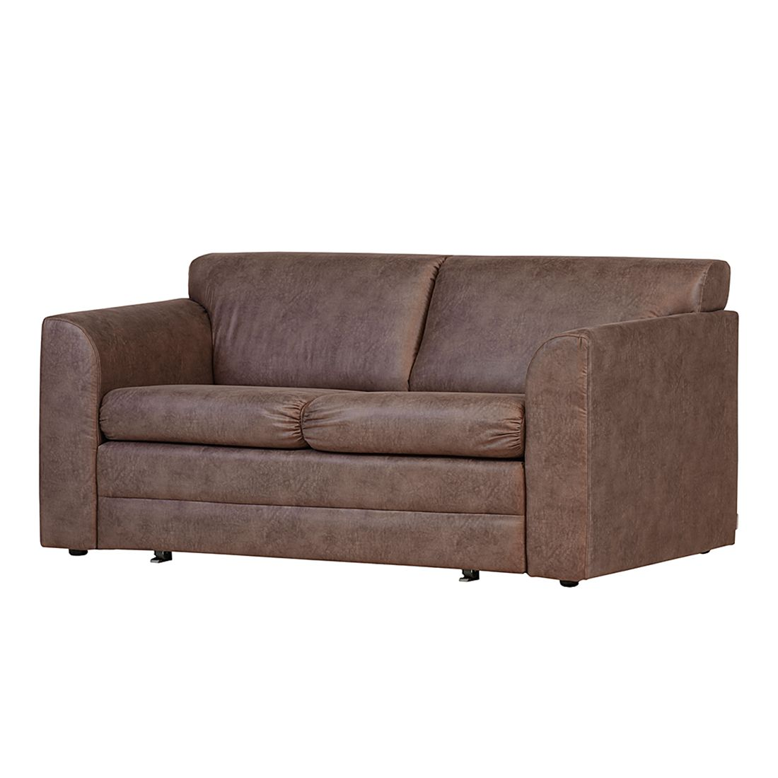 Canap convertible helena aspect cuir marron roomscape for Transport canape