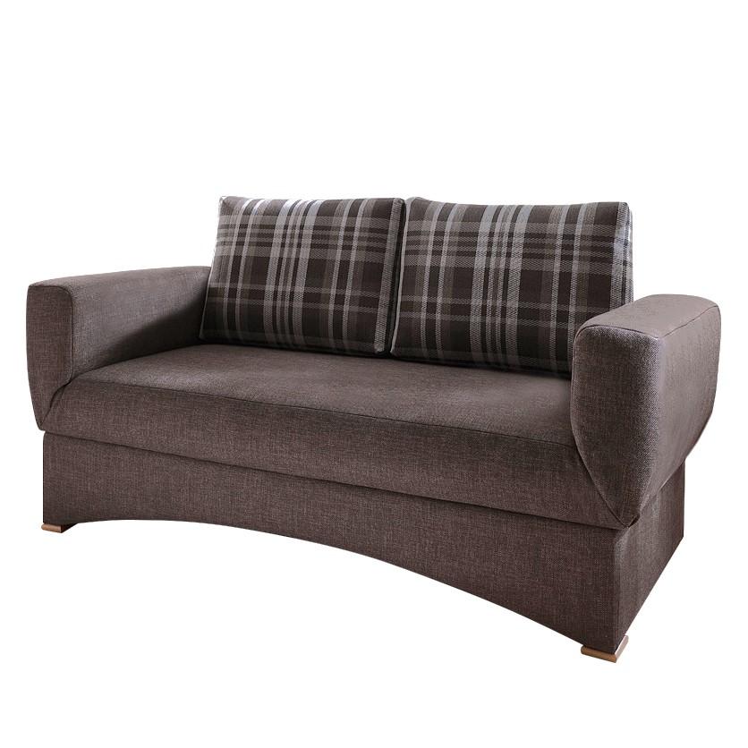 Canapé lit Hesper - Tissu Marron, Ridgevalley