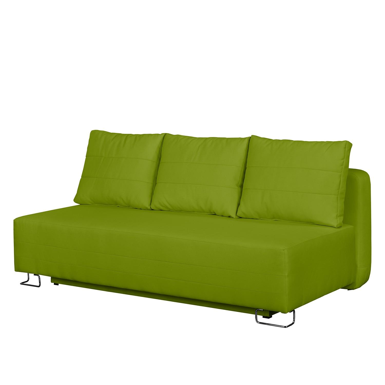 Canap convertible la vernia tissu vert pistache for Canape 99 euros