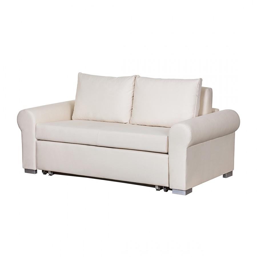 Schlafsofa Latina IV Baumwollstoff - Creme - 165 cm, Maison Belfo bei Home24 - Möbel