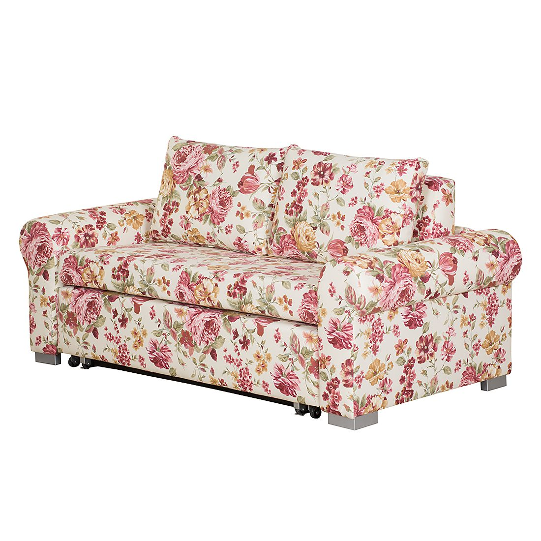 Canapé convertible Latina XII - Tissu - Multicolore - 165 cm - Types d´accoudoir arrondis, Maison Be