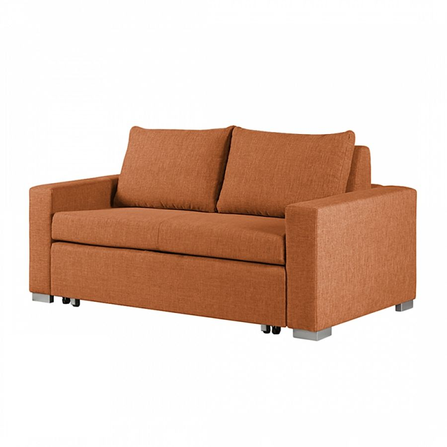 Schlafsofa latina webstoff orange 190 cm fredriks for Schlafsofa tiefe 90 cm