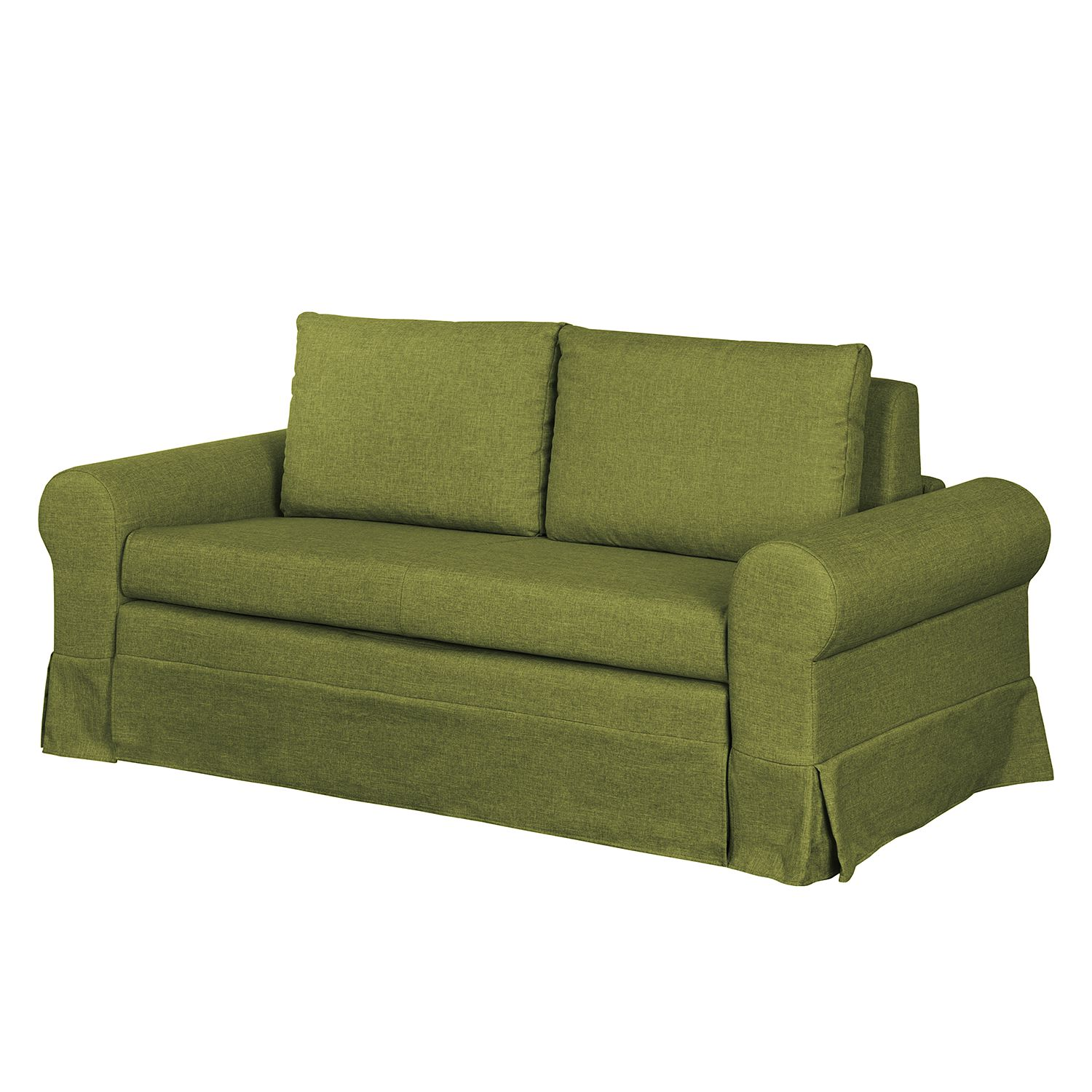 Canapé convertible Latina III - Tissu - Vert - 185 cm, mooved