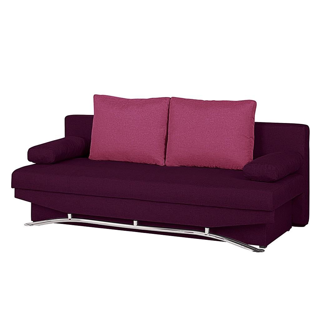 Canapé convertible Lenni - Toile tissée à plat violet / rose, mooved