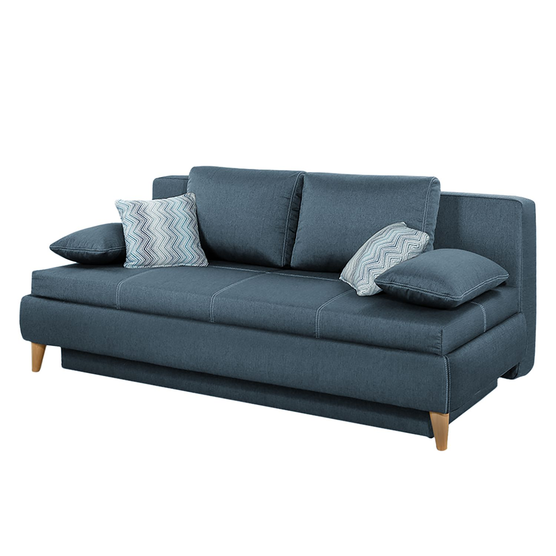 Canapé convertible Limba - Tissu - Bleu foncé, Home Design