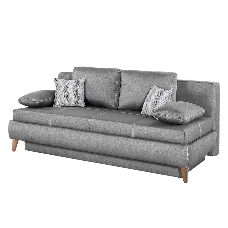 Canapé convertible Limba - Tissu - Gris, Home Design