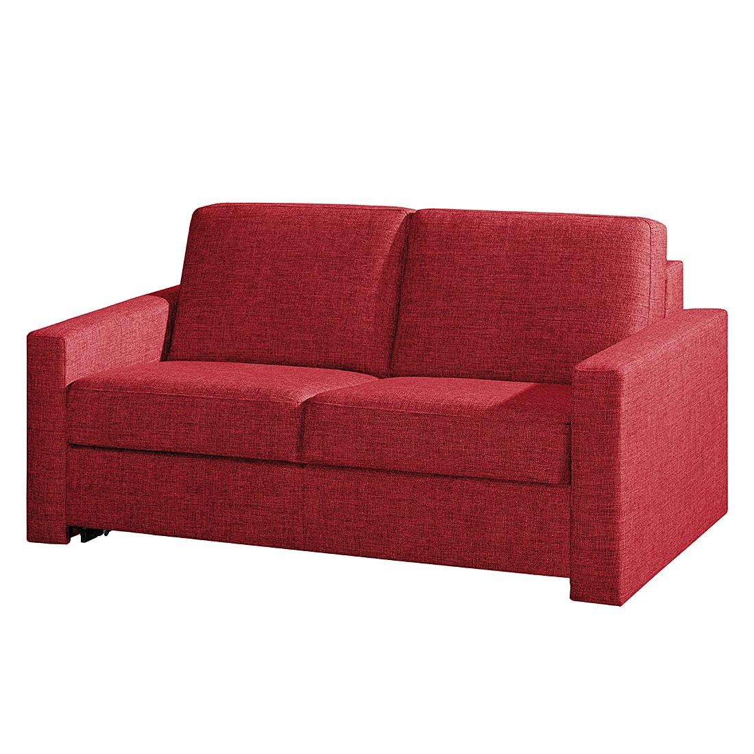 Canapé convertible Louis - Tissu rouge - 150 x 200 cm, loftscape