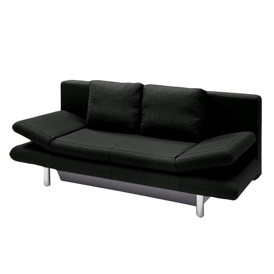 schlafsofa manoi webstoff schwarz studio monroe jetzt. Black Bedroom Furniture Sets. Home Design Ideas