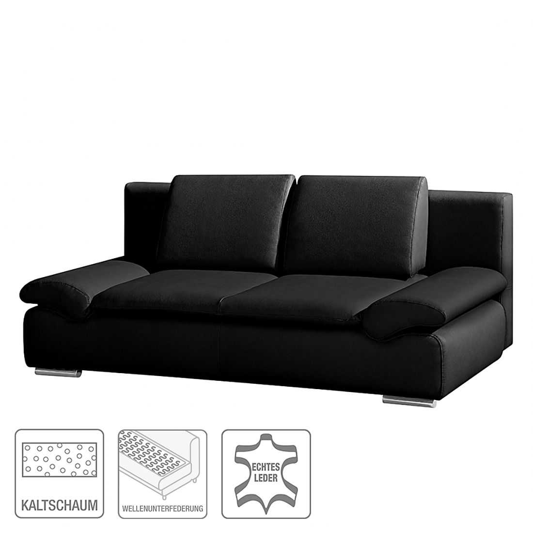 m bel schlafsofa norris echtleder schwarz modoform billigfraktion der schn ppchen blog. Black Bedroom Furniture Sets. Home Design Ideas