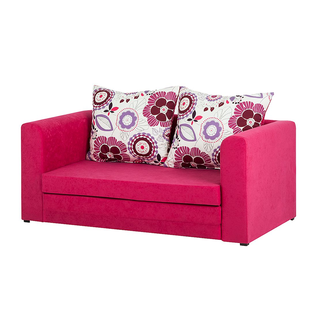 Canapé convertible Petty - Microfibre rose, mooved