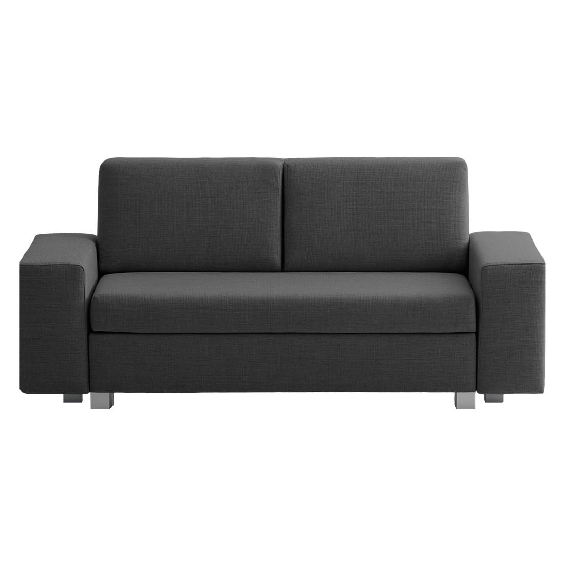 schlafsofa plaza webstoff anthrazit 19 ma e breite 198 cm h he 78 cm. Black Bedroom Furniture Sets. Home Design Ideas