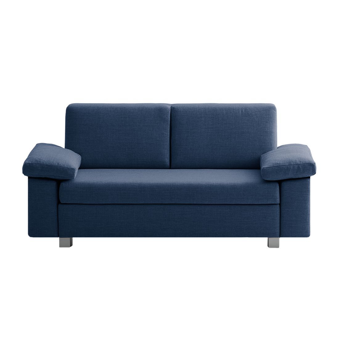 Canapé convertible Plaza - Tissu - Bleu - 172 cm - Types d'accoudoir rabattable, chillout by Franz F