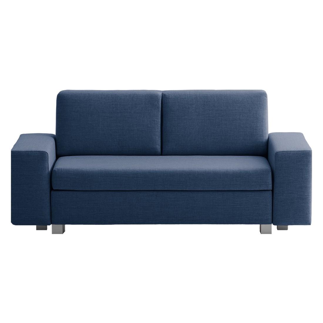 schlafsofa plaza webstoff blau 198 cm ma e breite 198 cm h he 78 cm. Black Bedroom Furniture Sets. Home Design Ideas