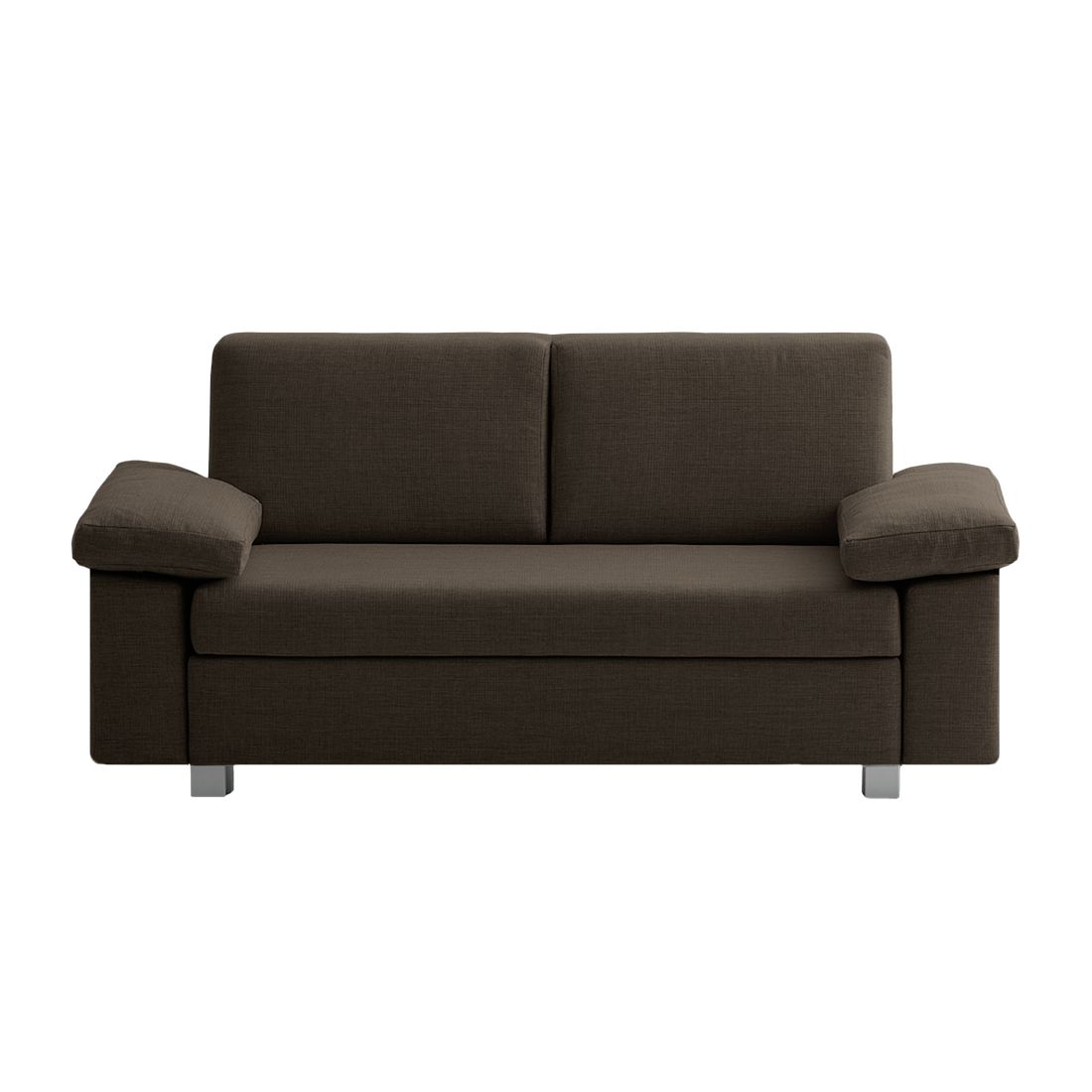 Canapé convertible Plaza - Tissu - Marron - 172 cm - Types d'accoudoir rabattable, chillout by Franz