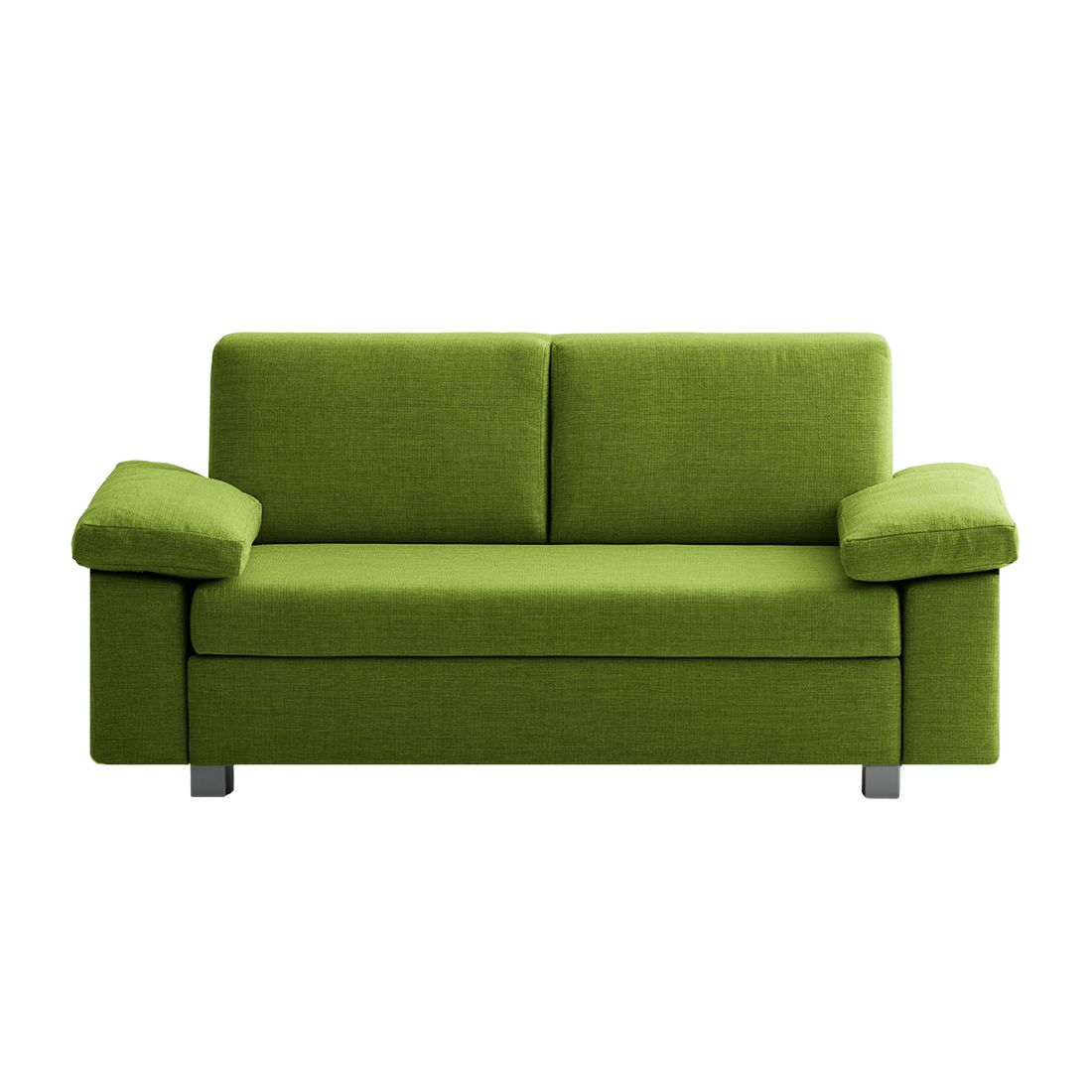 Canapé convertible Plaza - Tissu - Vert - 172 cm - Types d'accoudoir rabattable, chillout by Franz F