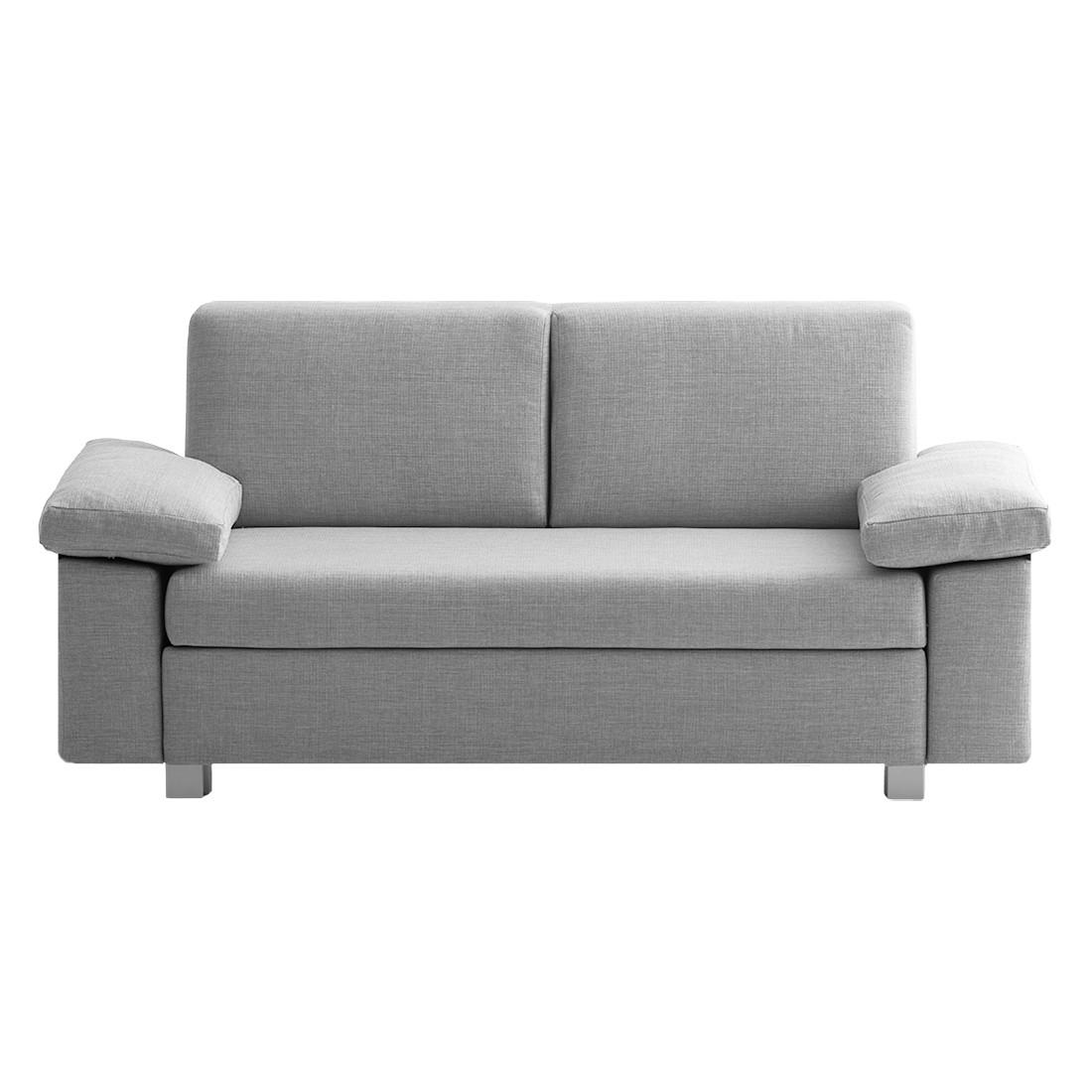 schlafsofa plaza webstoff hellgrau 192 ma e breite 192 cm h he 78 cm. Black Bedroom Furniture Sets. Home Design Ideas