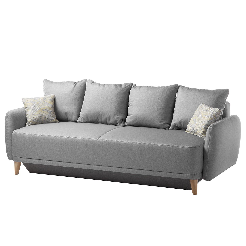 Canapé clic-clac Silvassa - Tissu - Gris, Home Design