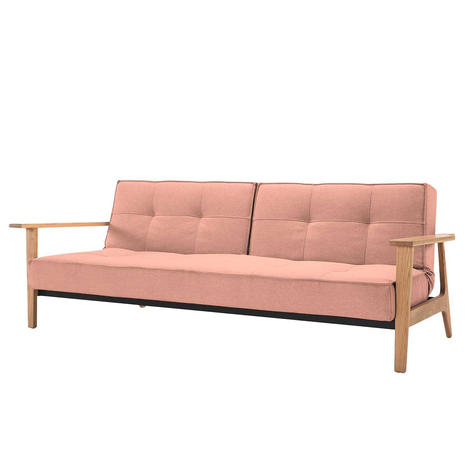 Canapé convertible Splitback Frej I - Tissu - Tissu 557 Soft Coral, Innovation Möbel