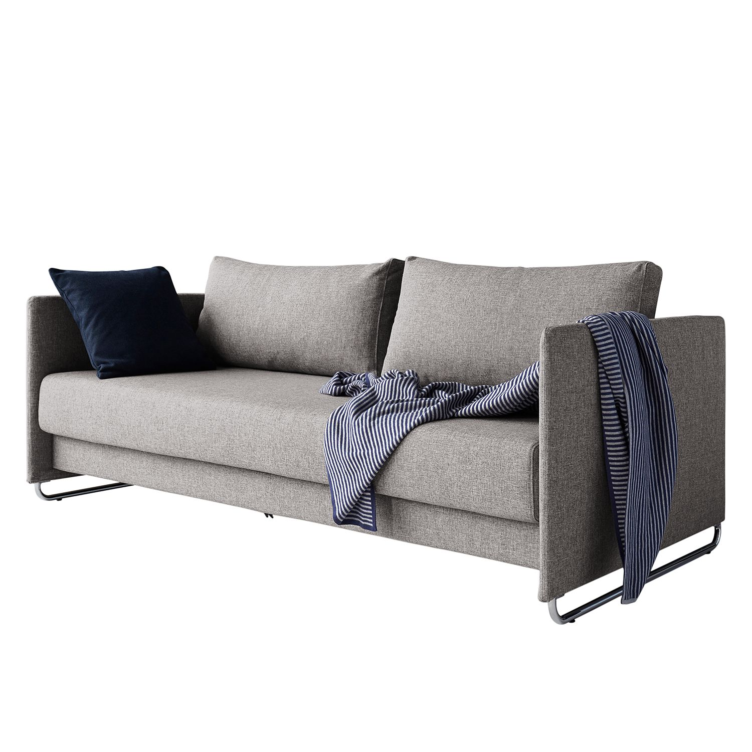 Canapé convertible Upend II - Tissu - Gris, Innovation Möbel