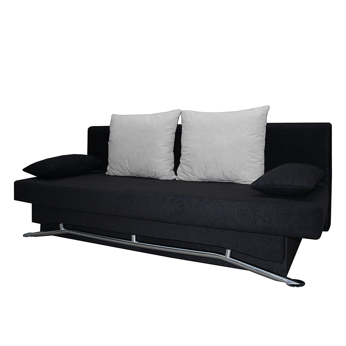 Canapé convertible Flipster - Microfibre noire, mooved