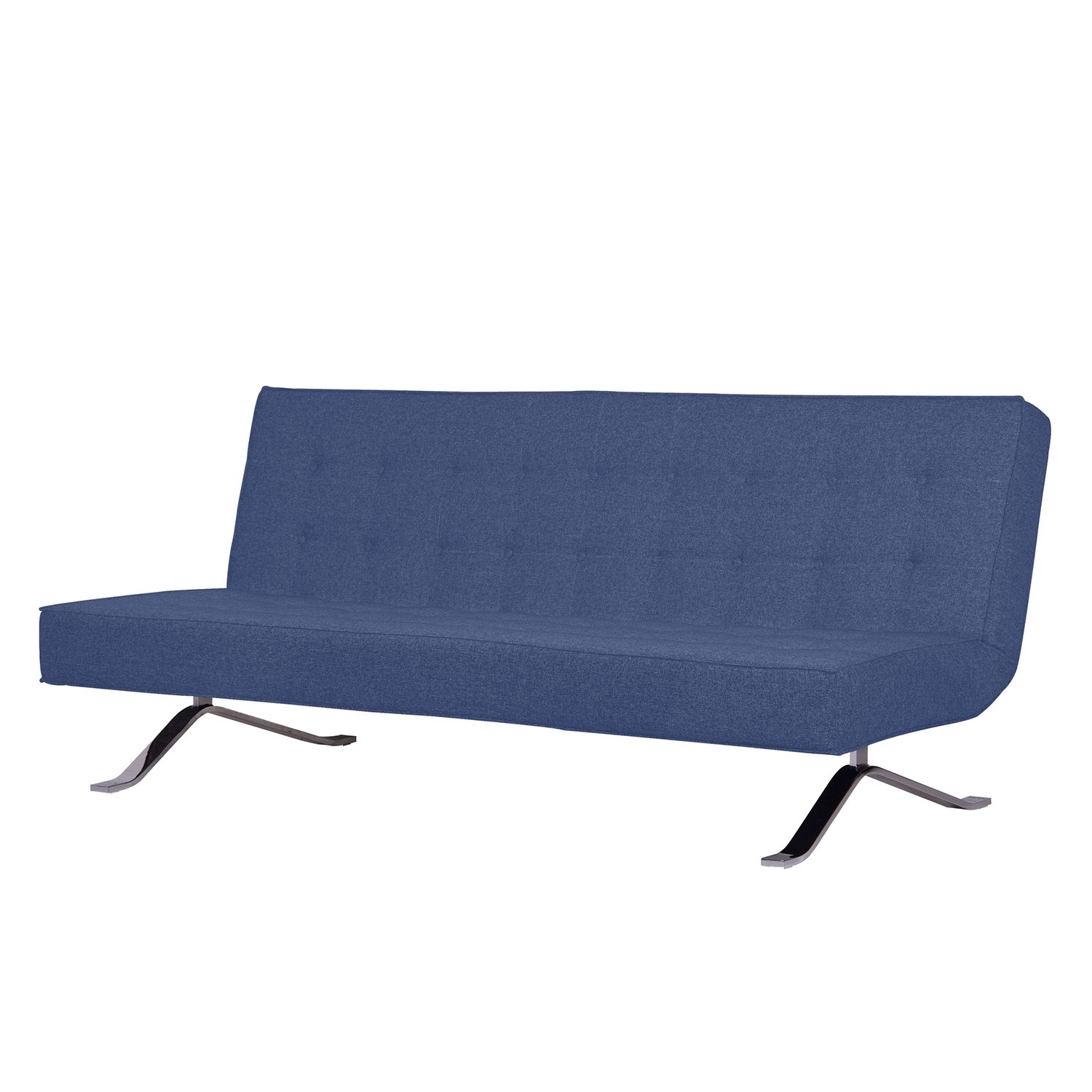 Schlafsofa Wave Two - Webstoff - Stoff Bora Blau