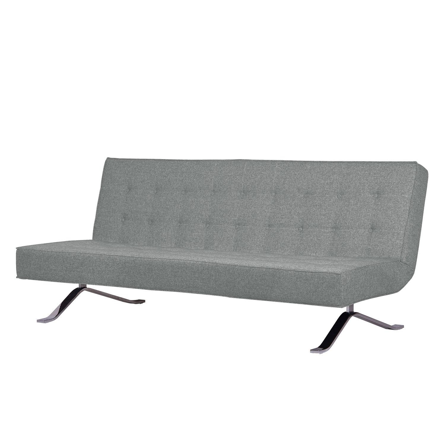 Schlafsofa Wave Two - Webstoff - Stoff Livia Grau
