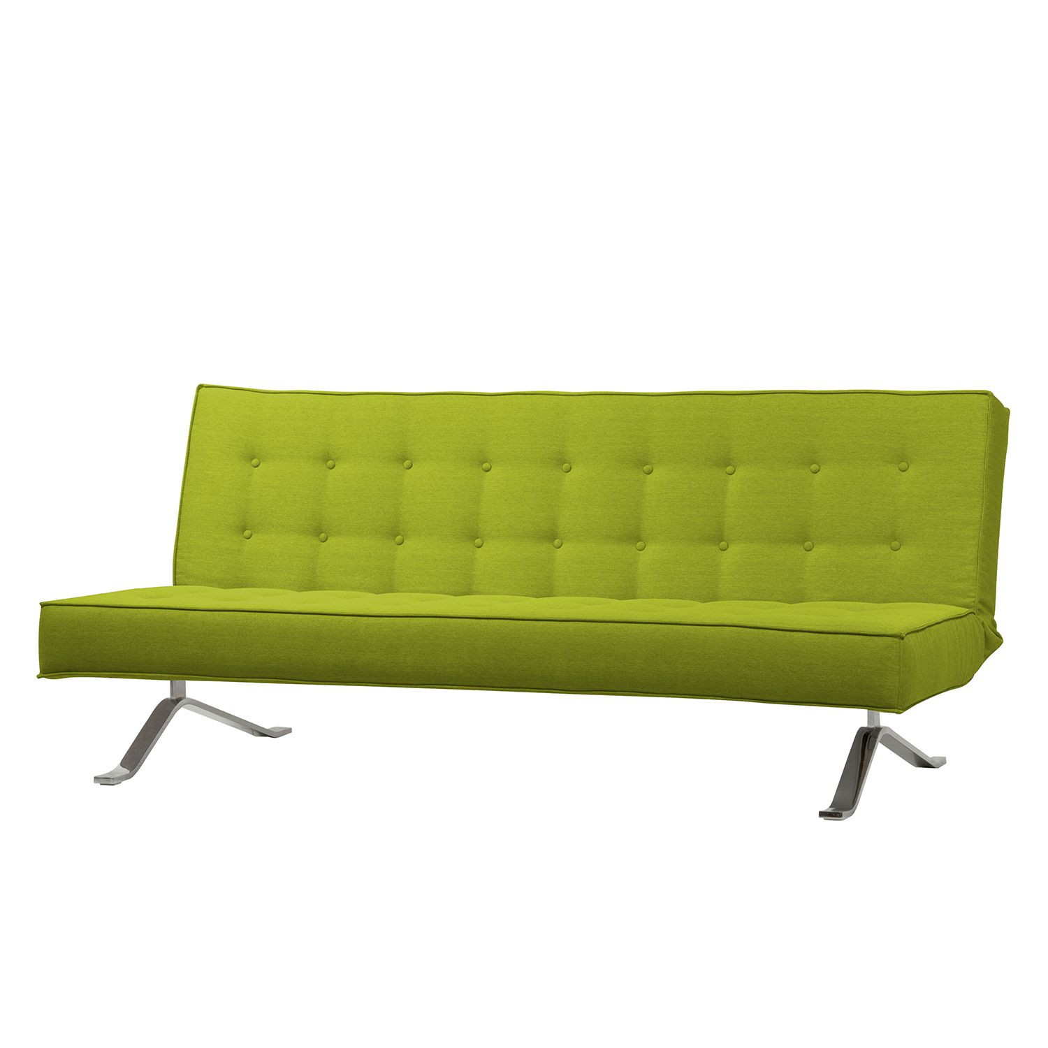 Schlafsofa Wave Two - Webstoff - Stoff Zahira Limette