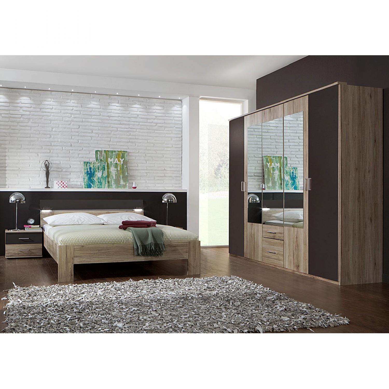 Combinaison de chambre à coucher Saxman I(4 éléments)- Imitation chêne de San Remo / Lava, Wimex