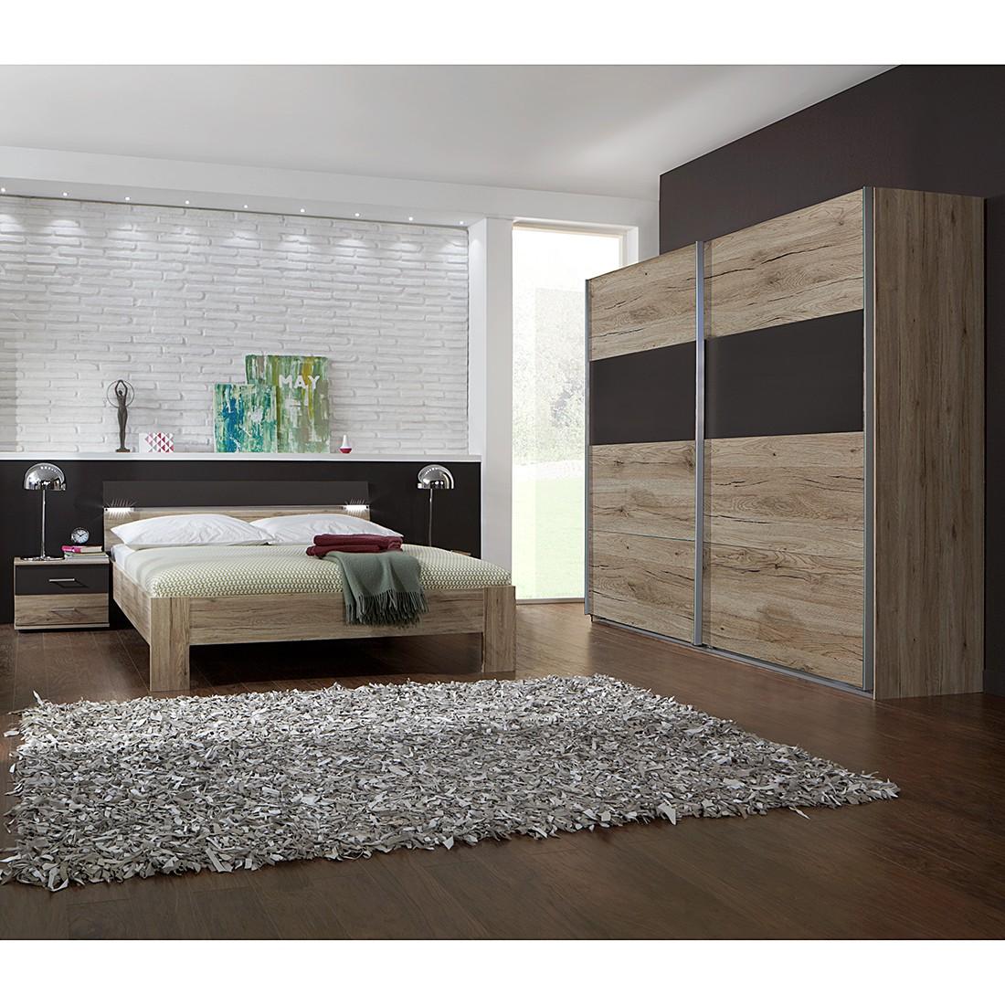 Combinaison de chambre à coucher Saxman III(4 éléments)- Imitation chêne de San Remo / Lava, Wimex
