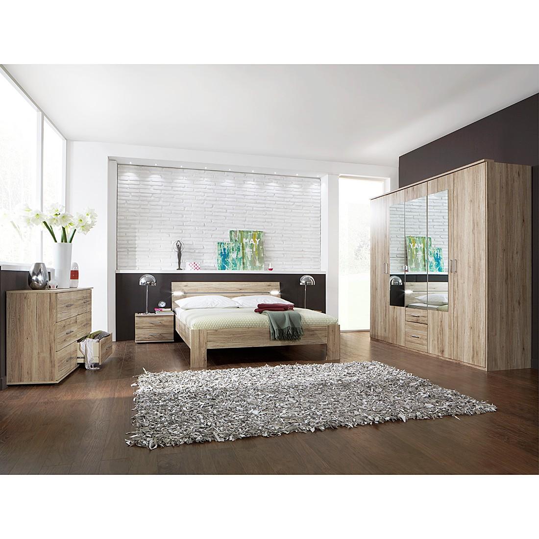 Combinaison de chambre à coucher Saxman (4 éléments) - Imitation chêne de San Remo, Wimex