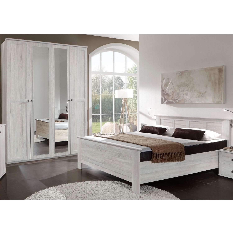 Slaapkamerset Chalet II (2-delige set) - wit eikenhouten look, Wimex