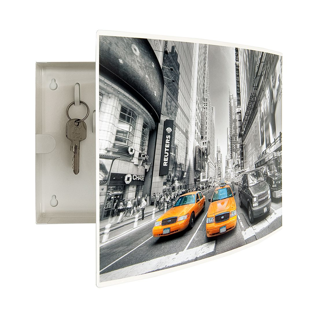 Sleutelkastje City New York - metaal, loftscape