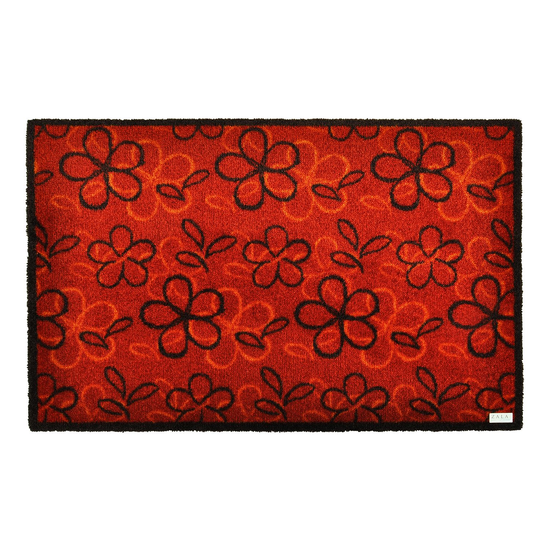 Deurmat Flower - Donkerrood - 50 x70 cm, Zala Living