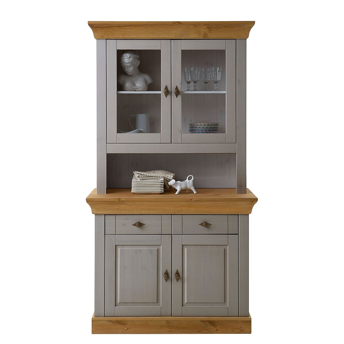 buffet bergen kiefer massiv grau laugenfarbig maison belfort g nstig online kaufen. Black Bedroom Furniture Sets. Home Design Ideas