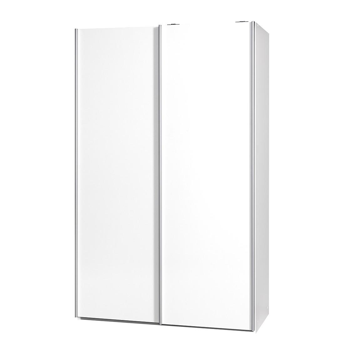 Armoire à portes coulissantes Soft Smart II - 120 cm (2 portes) - Blanc - Blanc, Cs Schmal