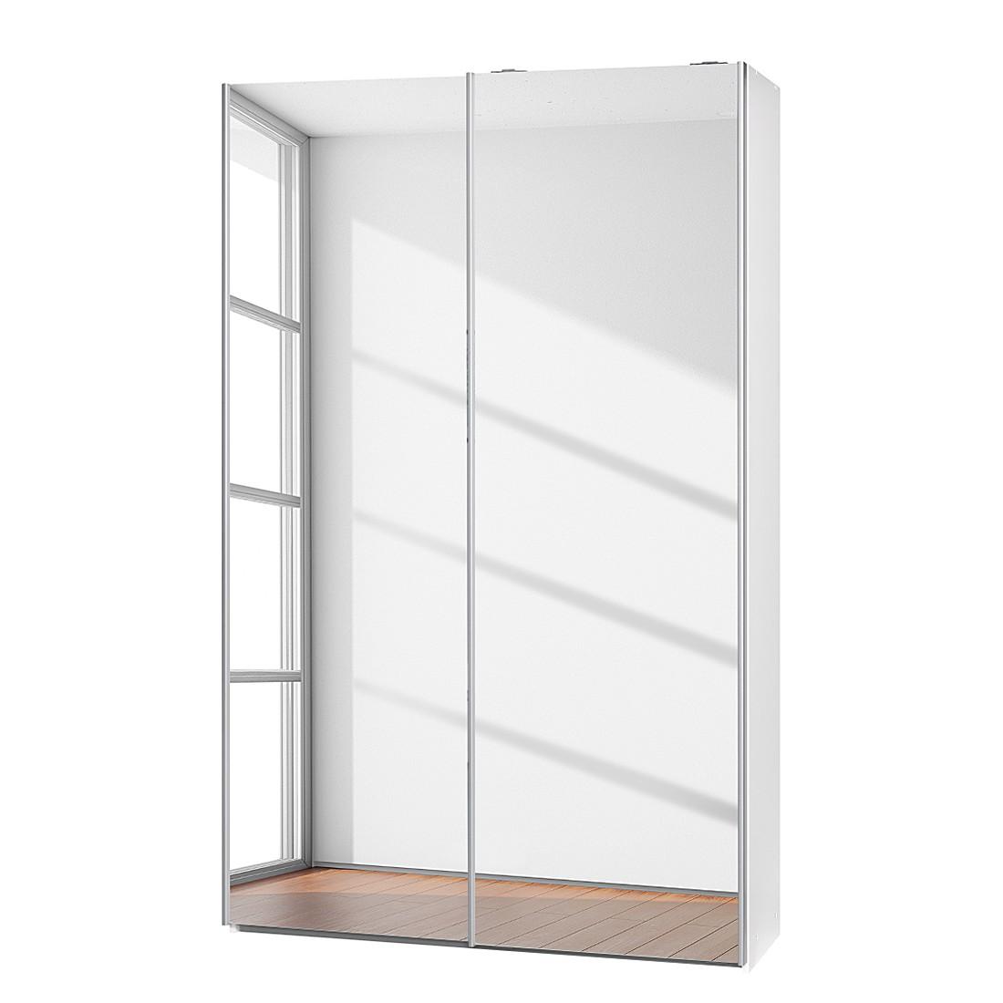 schwebet renschrank soft smart 120 cm wei wei 2 spiegelt ren cs schmal g nstig. Black Bedroom Furniture Sets. Home Design Ideas
