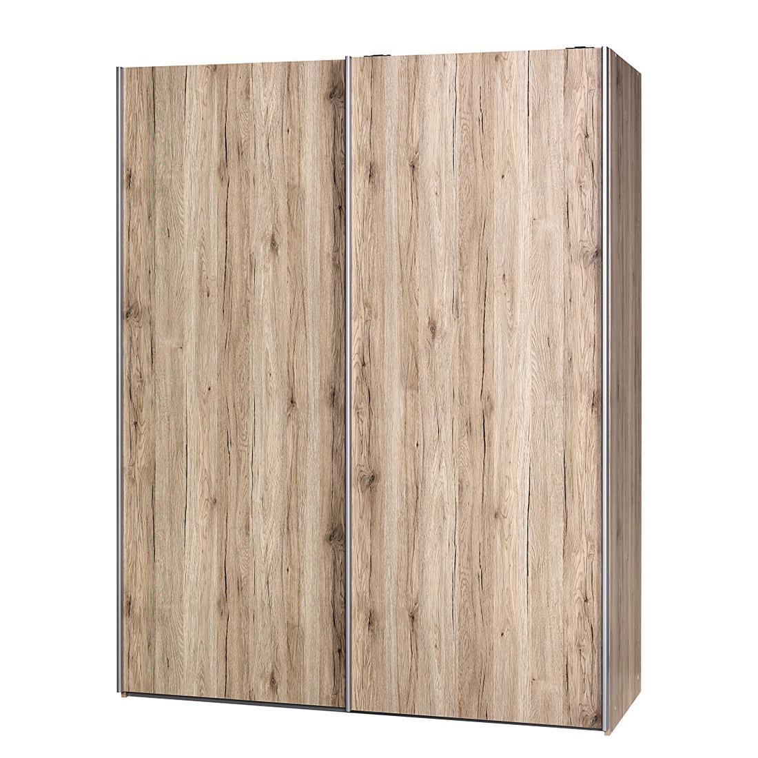 Schuifdeurkast Soft Smart II - 150cm (2-deurs) - San Remo eikenhouten look - San Remo eikenhouten look, Cs Schmal