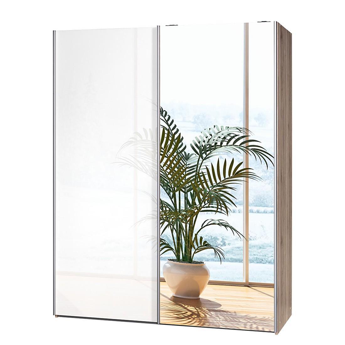 schwebet renschrank hochglanz wei spiegel. Black Bedroom Furniture Sets. Home Design Ideas