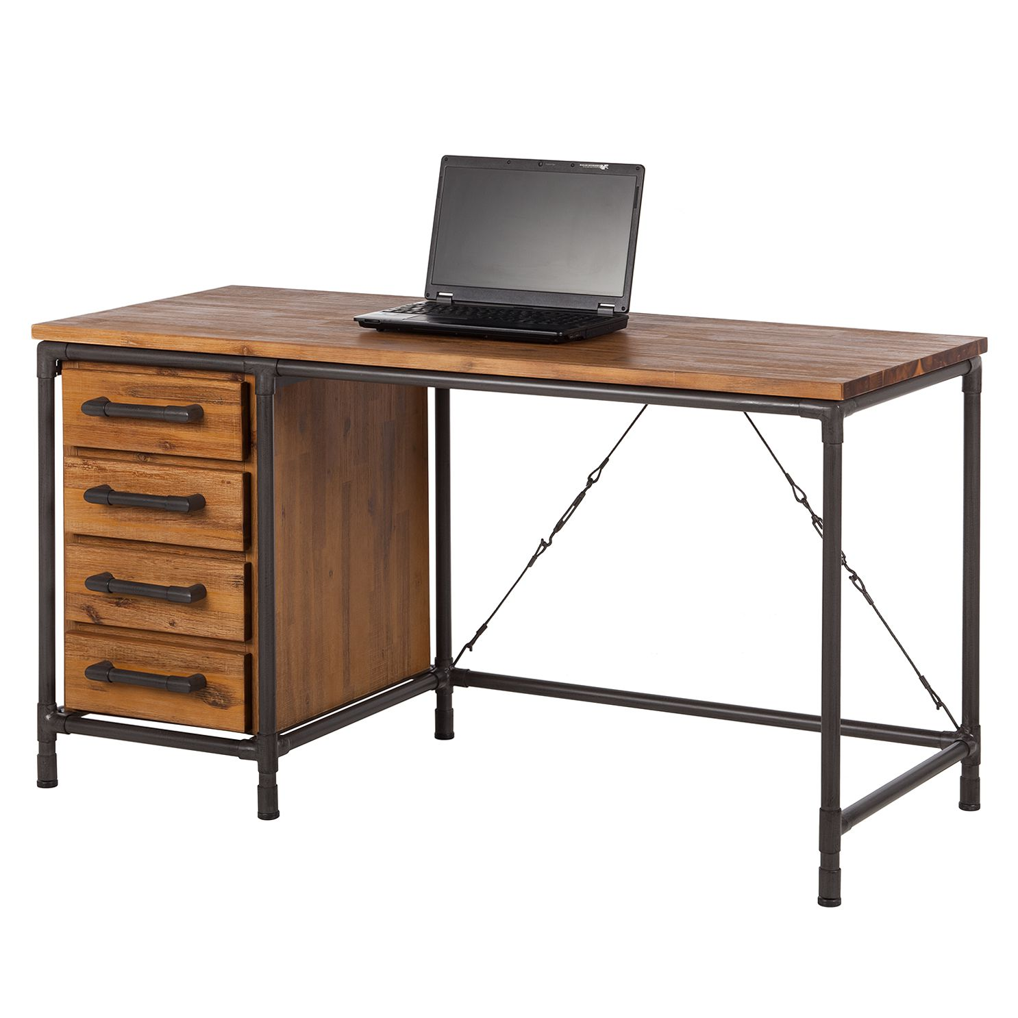 bureau atelier acacia partiellement massif m tal ars manufacti par ars manufacti chez home24 fr. Black Bedroom Furniture Sets. Home Design Ideas