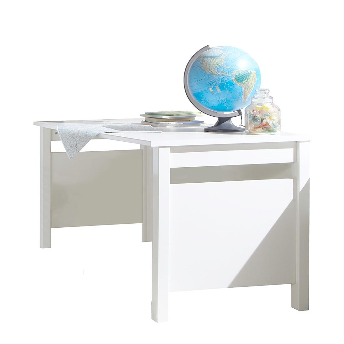 Schreibtisch Bibi - Alpinweiß/Apfelgrün - Ohne Container, Wimex